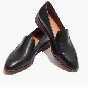 Madewell frances Black Leather Loafer Flat 9